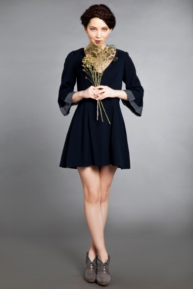 bell sleeve dress ff with flowers