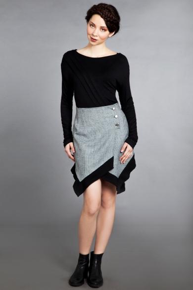 grid wrap skirt